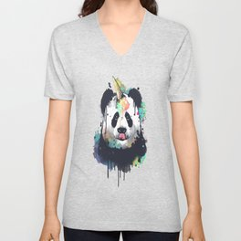 Ice cream pandacorn Unisex V-Neck