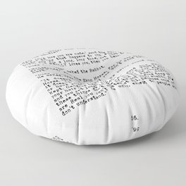 Becoming Real, Velveteen Rabbit Quote Floor Pillow