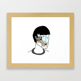 Someone is waiting for you at home Framed Art Print