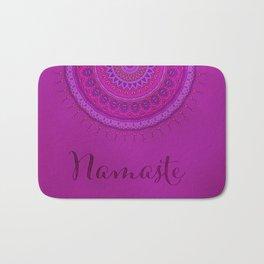 Namaste Mandala Yoga Hindi Symbol Bath Mat