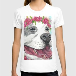 Puppy In Pink T-shirt