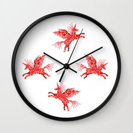 Extremely hearty unicorn pegasus Wall Clock
