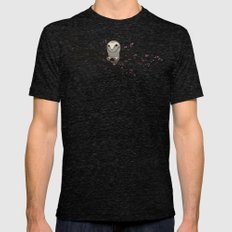 Night Owl Tri-Black LARGE Mens Fitted Tee