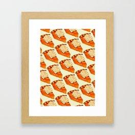 Pumpkin Pie Pattern Framed Art Print