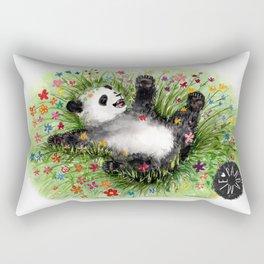 Pandamie - PandaFlowerPower Rectangular Pillow