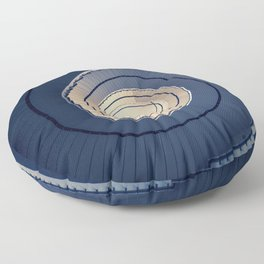 Spiral staircase in ark blue and sand tones Floor Pillow