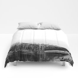 Grand Tetons in Black and White Comforters