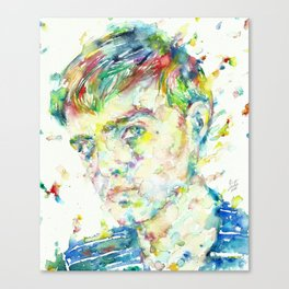 TRUMAN CAPOTE - watercolor portrait Canvas Print