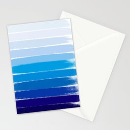 Kent - blue ombre brush strokes art Stationery Cards
