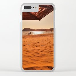 Hot Sand Clear iPhone Case