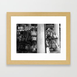 Bag Stall, Covent Garden Market, London Framed Art Print