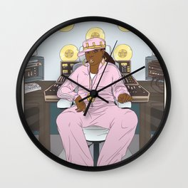 Queen of Pentacles - Missy Elliott Wall Clock