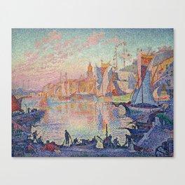 Paul Signac - The Port Of Saint Tropez Canvas Print