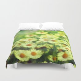 """""""Spring of daisies, green and sunlight"""" Duvet Cover"""