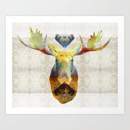 Mystic Moose Art by Sharon Cummings Art Print