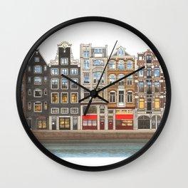 Prinsengracht Canal Amsterdam Wall Clock