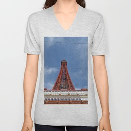 Blackpool Tower on a sunny day  Unisex V-Neck