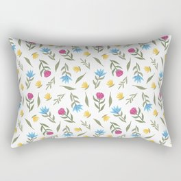 Spring Vibes | Vintage Flower pattern Rectangular Pillow