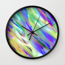 Colorful digital art splashing G401 Wall Clock