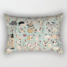 Ukiyo-e Cats by Utagawa Kuniyoshi (1798-1861) Rectangular Pillow