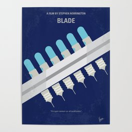 No896 My Blade minimal movie poster Poster
