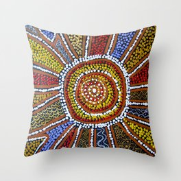 WELCOME TO COUNTRY Throw Pillow