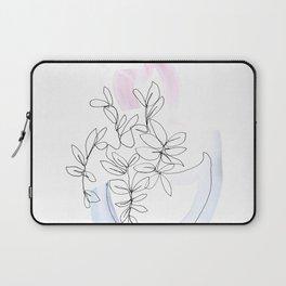 Contour Line Botanical 1 Laptop Sleeve
