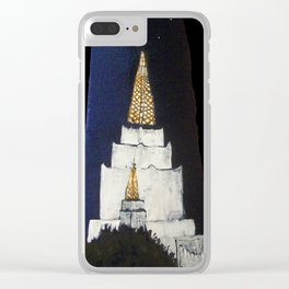 Oakland LDS Temple Tie Clear iPhone Case