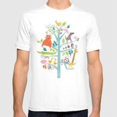 tree White Mens Fitted Tee 2X-LARGE