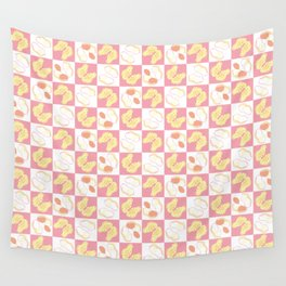 Peanut Checkered Pattern Wall Tapestry