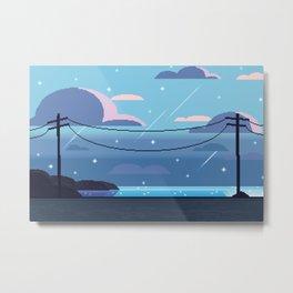 Sea Side Road Metal Print