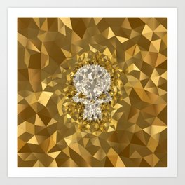 POLYNOID Skull / Gold Edition Art Print