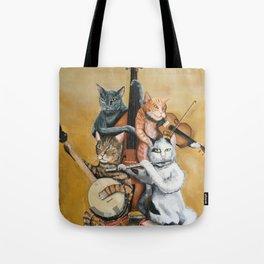 Cat Quartet Tote Bag