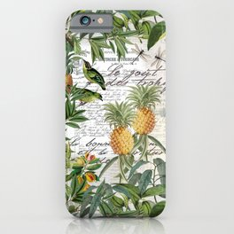 Tropical Fruit Illustration Vintage Style iPhone Case