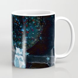 BLUE CHRISTMAS STARGAZERS ~ BACK WHERE MY HEART IS LONGING TO BE Coffee Mug