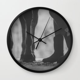 boots hooves + bows Wall Clock