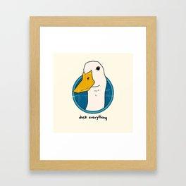 duck everything Framed Art Print