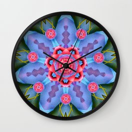 Flower of Sevens Mandala Wall Clock