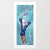 jack frost Art Prints featuring Jack Frost by Bobby Fasel
