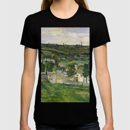 Stolen Art - View of Auvers-sur-Oise by Paul Cezanne T-shirt