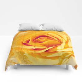 Gold Rose Bud- Yellow Roses and flowers Comforters