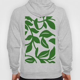 PALM LEAF VINE SWIRL IN GREEN AND WHITE Hoody