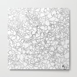Winter Creeper Line Art Metal Print