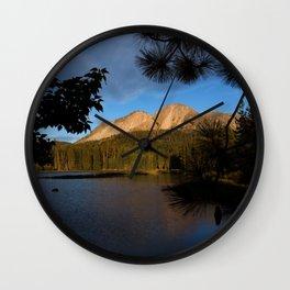 Manzanita Lake Lassen Volcanic National Park Landscape Wall Clock