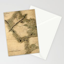 Map Of Quebec 1761 Stationery Cards