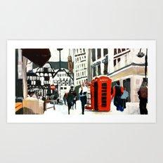 London in Winter Art Print