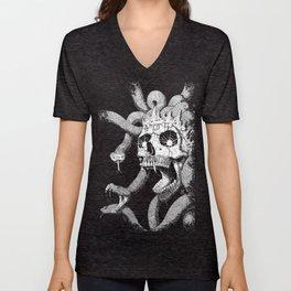 Medusa Skull Unisex V-Neck