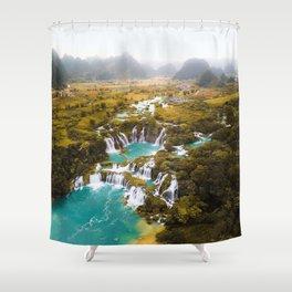 China's Waterfalls Shower Curtain