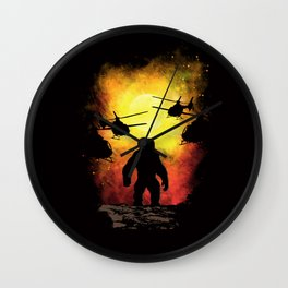 Reign of Monsters Wall Clock