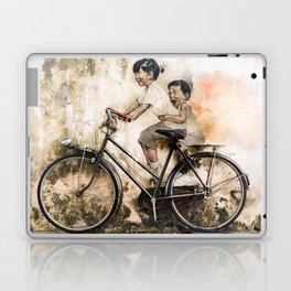 Kids on Bicycle - Reflections of Penang Laptop & iPad Skin